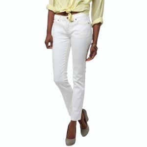 BDG White Cigarette Mid Rise Skinny Jeans UO